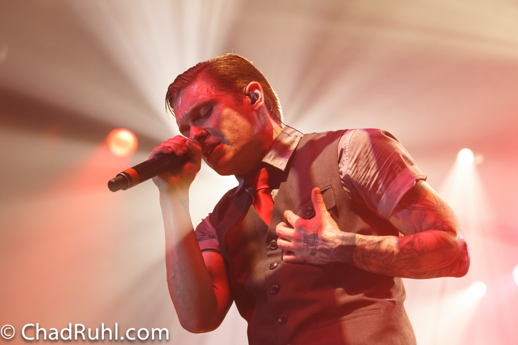 Brent Smith of Shinedown Photo by Chad Ruhl